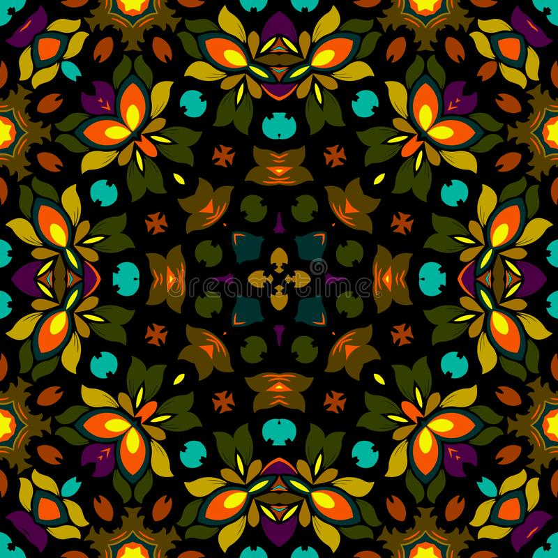 Seamless colorful of ethnic pattern stock image