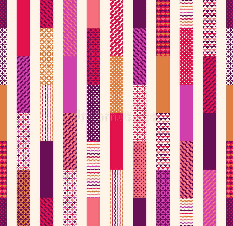 Seamless colorful geometric stripes pattern. Seamless colorful geometric stripes background pattern royalty free illustration