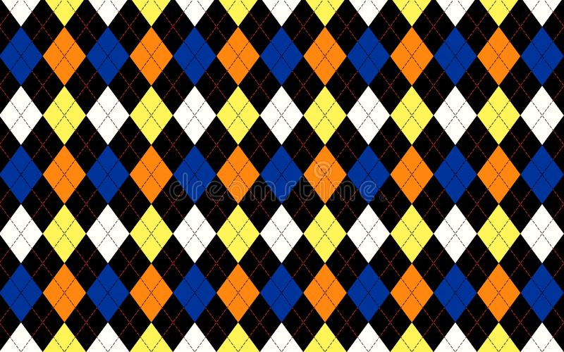 Seamless colorful geometry triangle pattern background. Illustration design. Wallpaper, backdrop, fashion, wool, woven, dress, shirt, skirt, art, diamond stock images