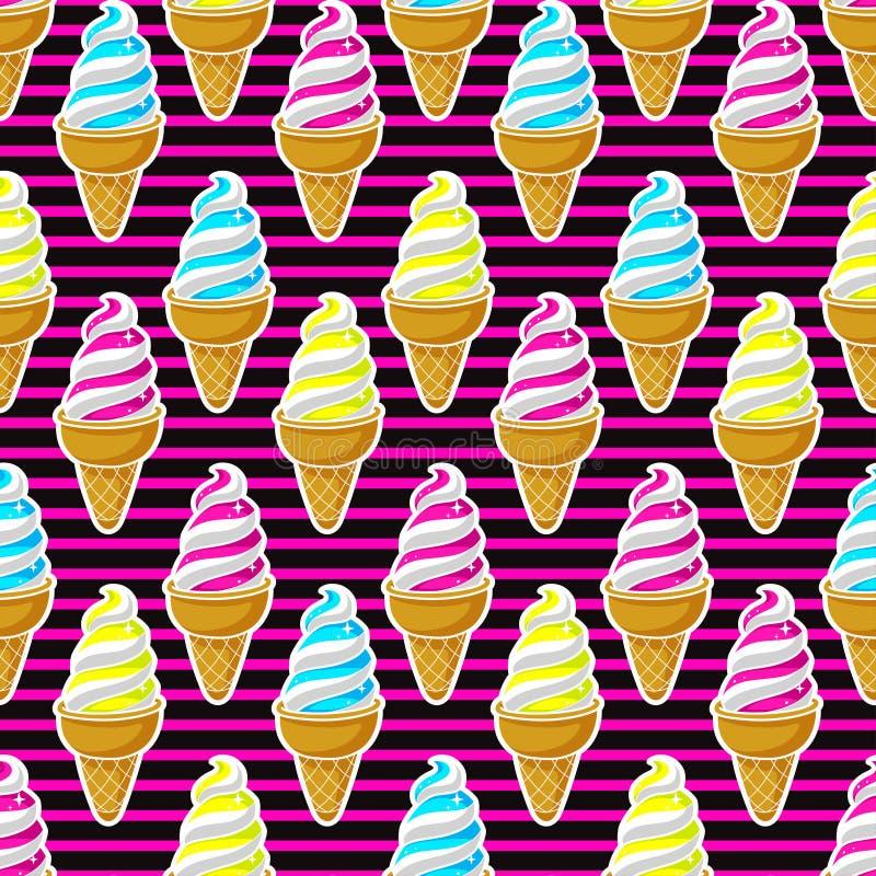 Seamless colorful ice cream royalty free illustration