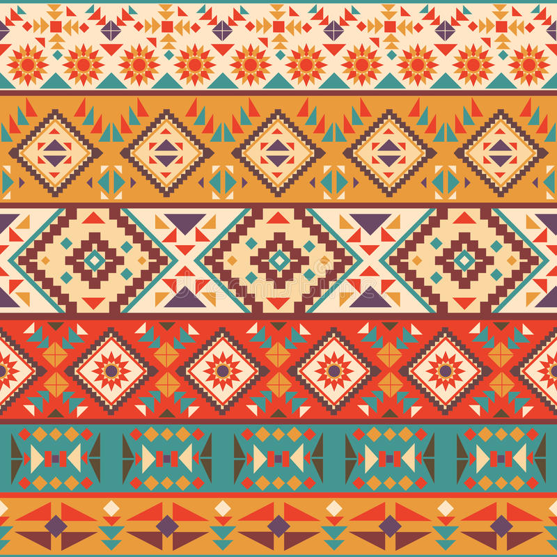 Seamless colorful navajo pattern royalty free illustration