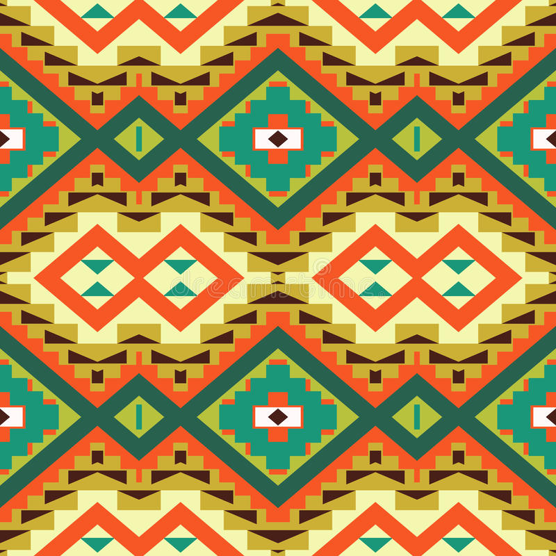 Seamless colorful navajo pattern. Vector illustration vector illustration