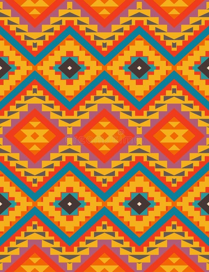 Seamless colorful navajo pattern royalty free illustration