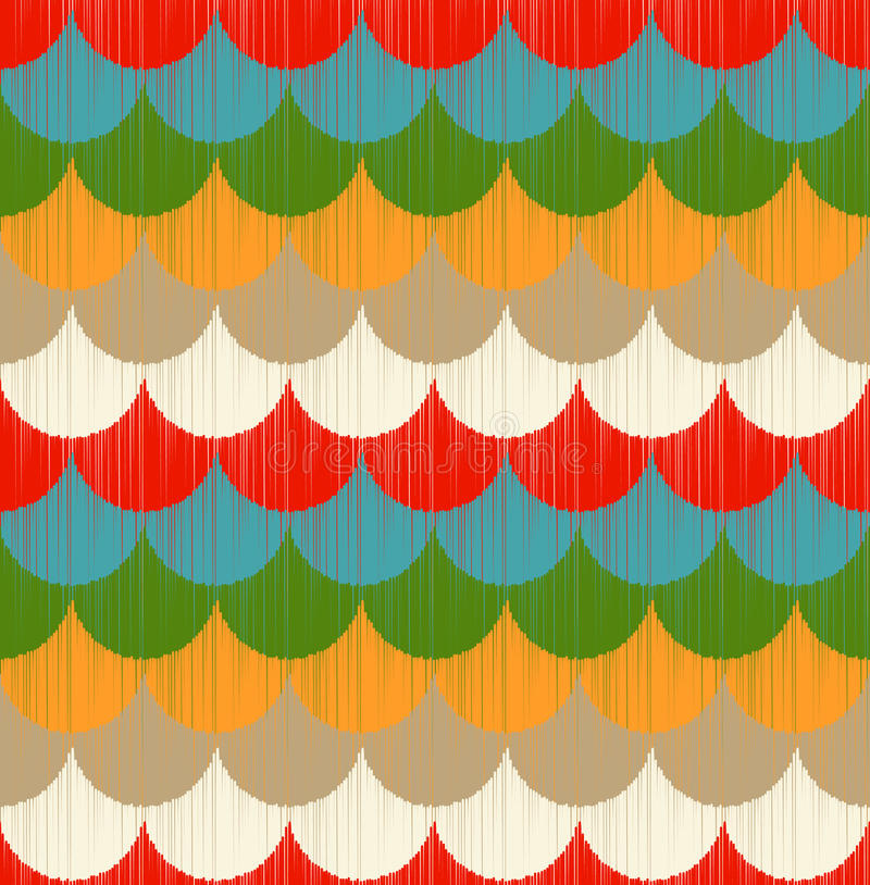 Seamless colorful ocean wave pattern royalty free illustration