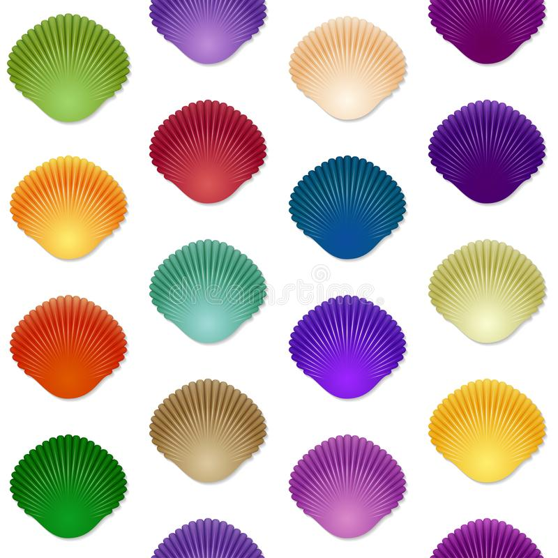 download seamless colorful seashell template background stock vector illustration of element backdrop 108573509