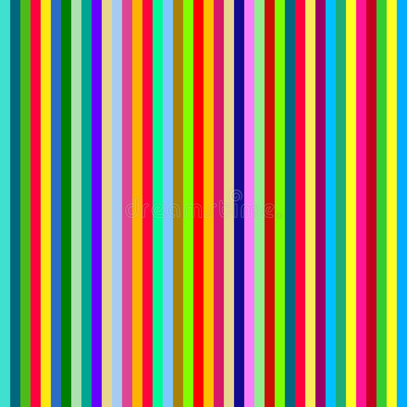 Seamless colorful striped pattern, royalty free illustration
