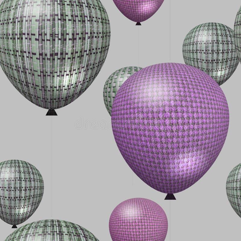 Seamless coloured balloon background stock image