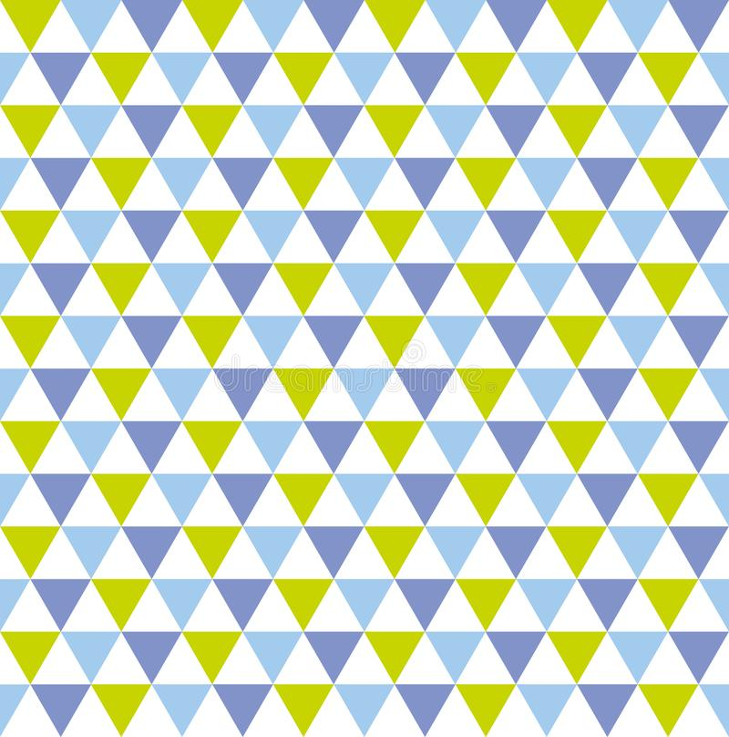 Seamless colourful geometric triangle pattern background vector illustration