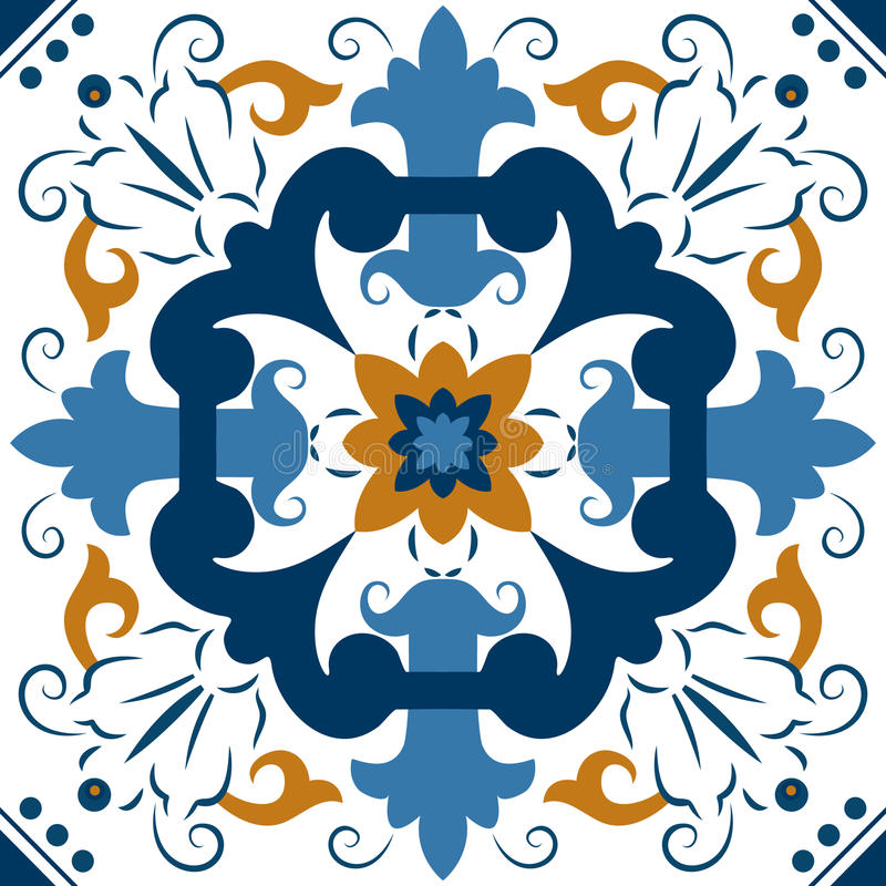 Seamless Colourful Ornament Tiles royalty free illustration