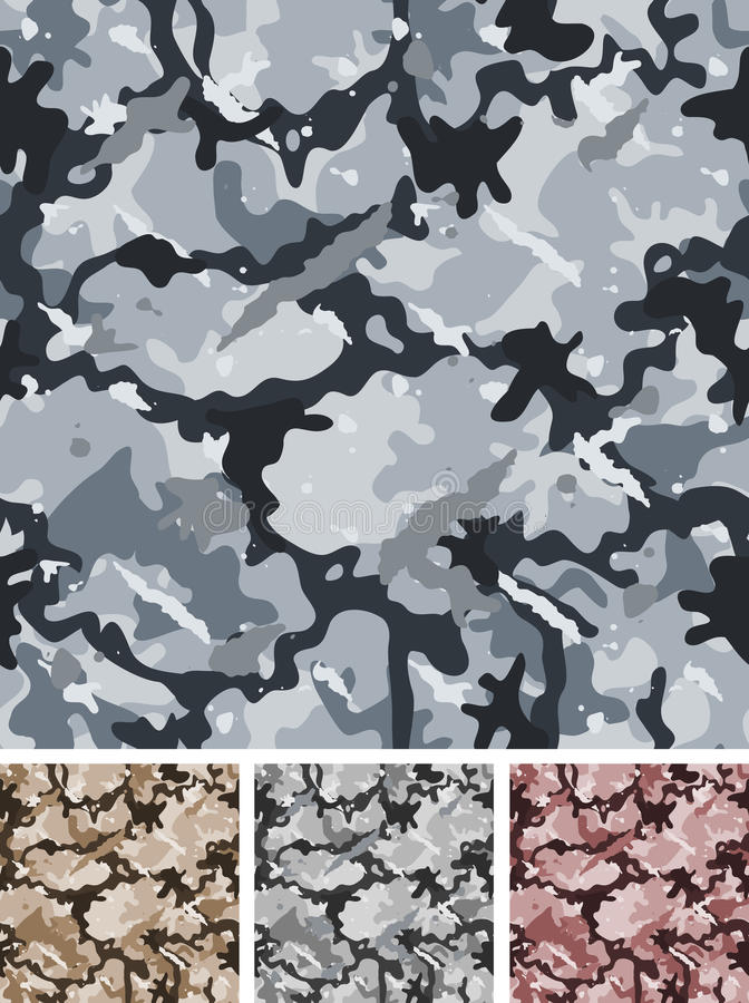 Download Seamless Complex Military Night Camouflage Stock Vector - Illustration: 30389956