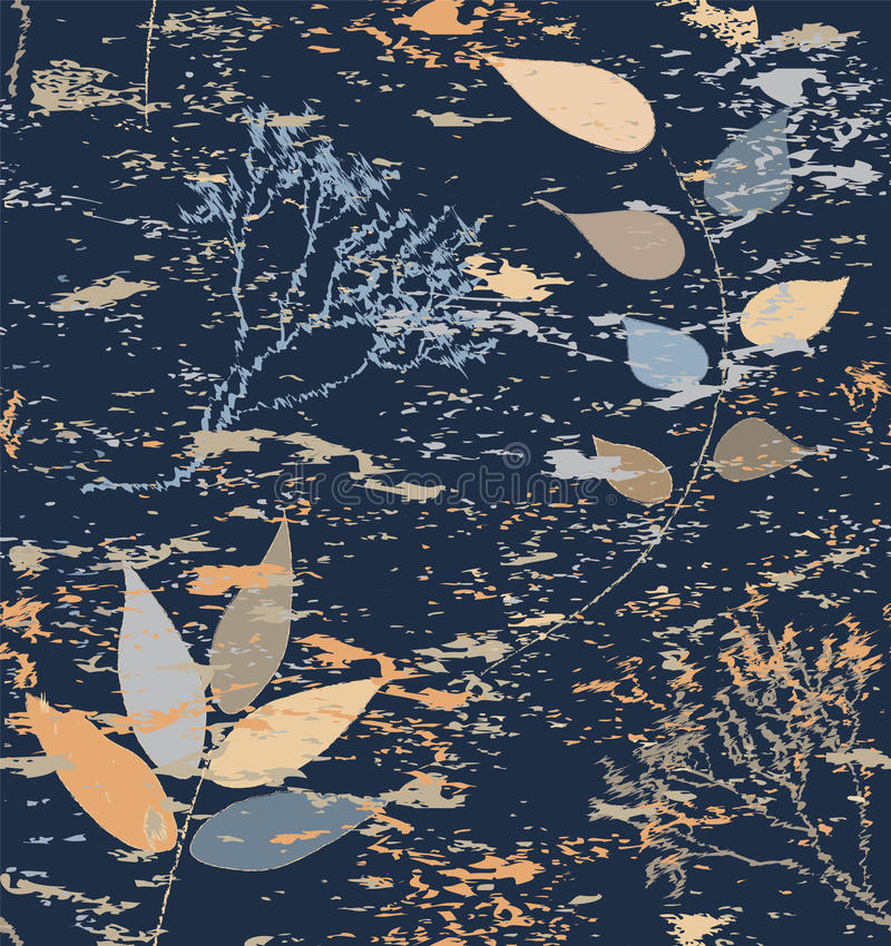 Seamless Composition With Abstract Dry Branches Royalty Free Stock Image