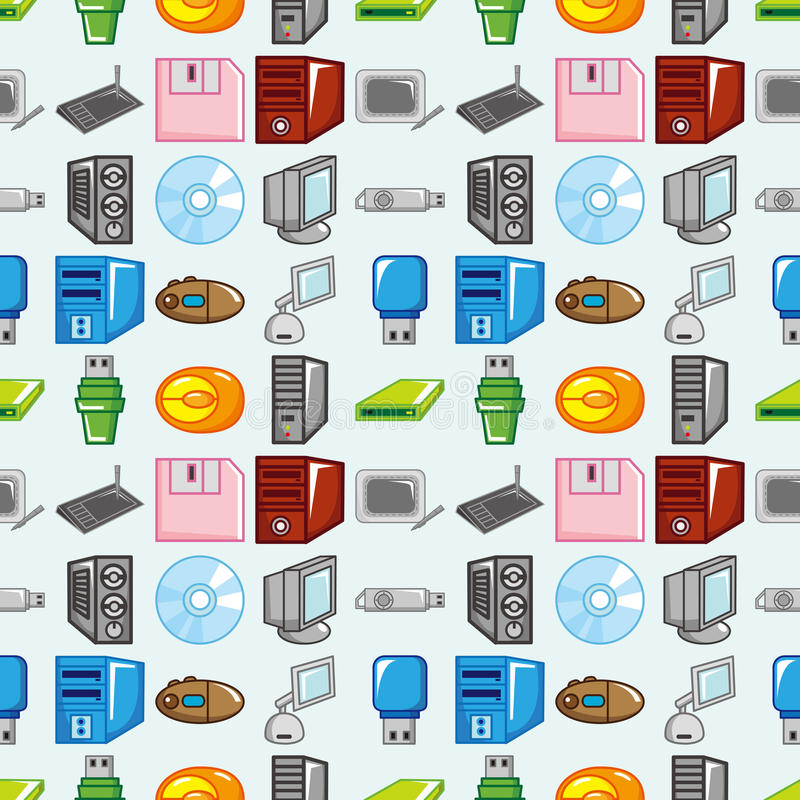 Download Seamless computer pattern stock vector. Image of computer - 27813516