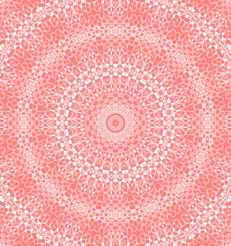 Seamless concentric circle ornament pink red white royalty free illustration