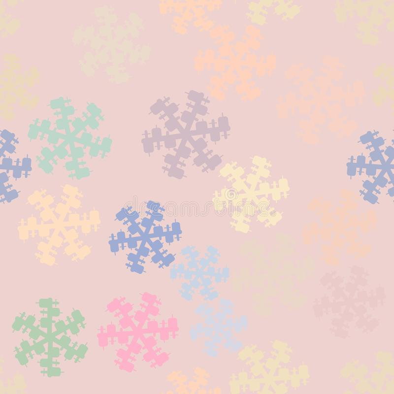 Seamless conceptual background close-up of snow for design catalog or texture. Backdrop, effect, repeat & wallpaper. vector illustration