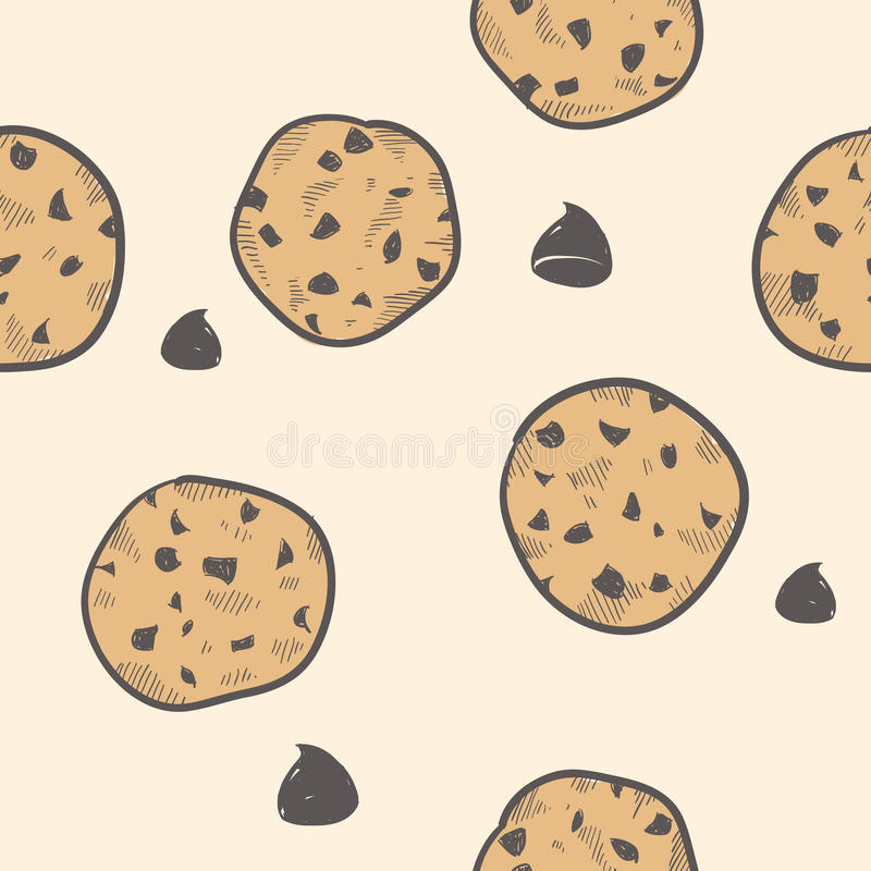 Download Seamless cookie background stock vector. Image of cookie - 22434742