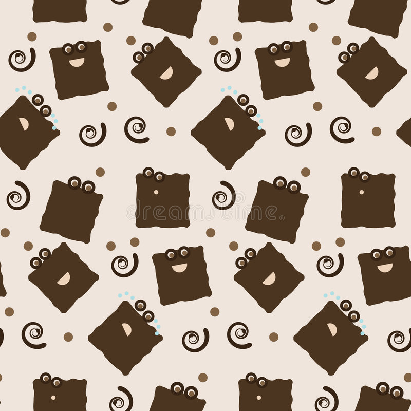 Download Seamless Cookie Character Tile Stock Illustration - Image: 7478925