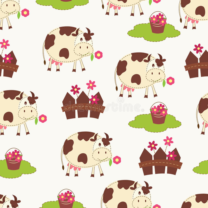 Download Seamless with cows stock vector. Image of seamless, animal - 30787221
