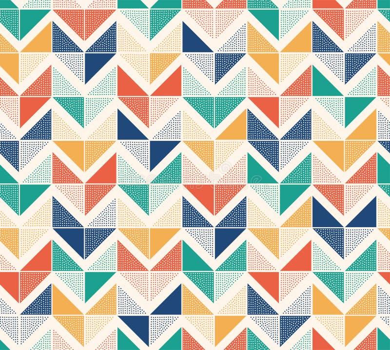 Seamless creative stylish doodle dots playful herringbone pattern. Seamless creative stylish doodle dots playful herringbone tiles pattern royalty free illustration