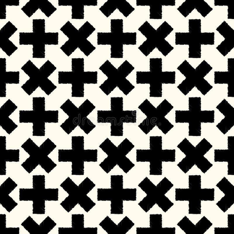 Seamless cross regular background vector illustration