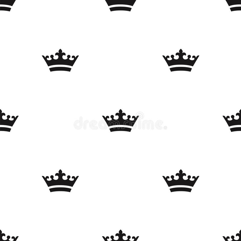 Seamless crown pattern. stock photography