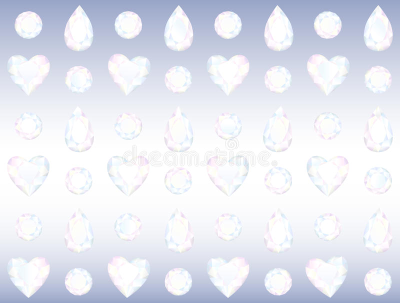 Download Seamless Crystal Wall stock vector. Image of fashion - 35187976