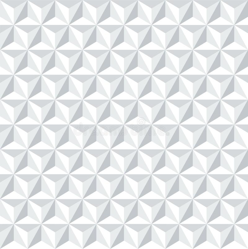 Seamless cubic triangular abstract geometric isometric pattern background texture. Seamless cubic triangular abstract geometric isometric pattern background stock illustration