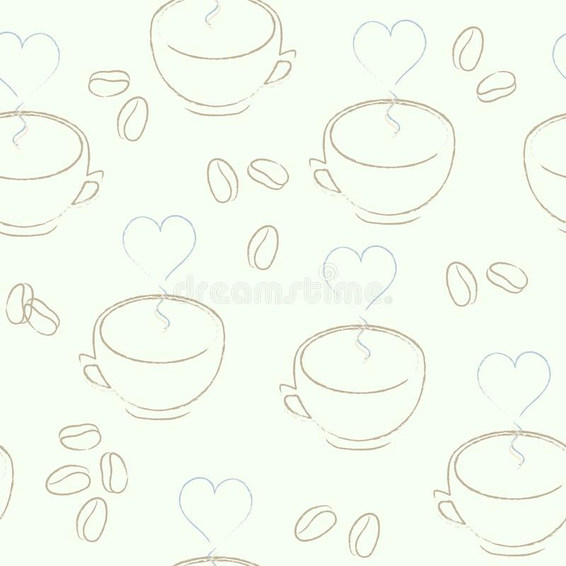 Seamless Cup Pattern Stock Images