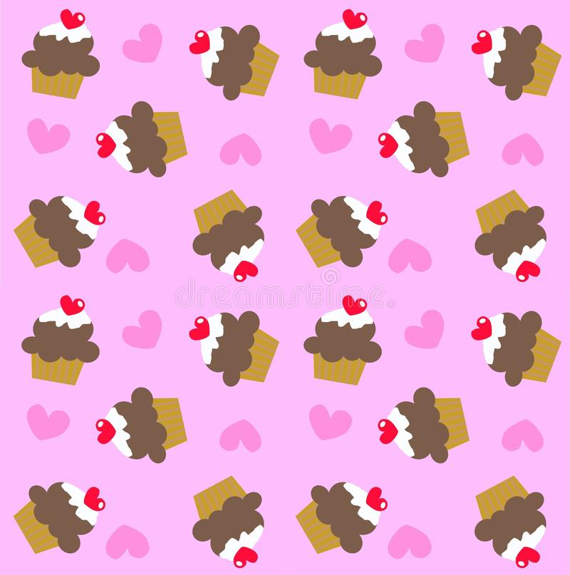 Download Seamless cupcake pattern stock vector. Illustration of backdrops - 17989455