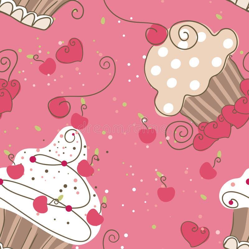 Download Seamless Cupcakes Royalty Free Stock Photos - Image: 27834388