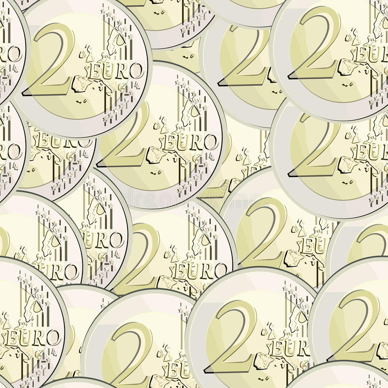 Download Seamless  Currency 2 Euro Coin Stock Vector - Illustration of euro, coin: 15410843