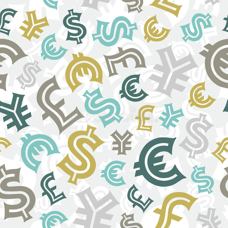 Download Currency Signs. Seamless Pattern Background. Stock Vector - Illustration of finances, profit: 30039711