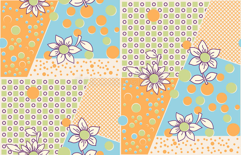 Seamless cute abstract summer pattern royalty free illustration