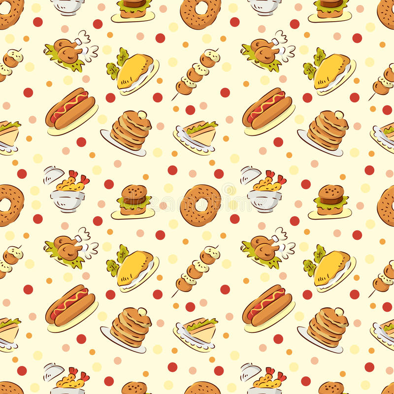 Seamless cute food pattern stock vector illustration of download seamless cute food pattern stock vector illustration of cheeseburger 16436670 voltagebd Gallery