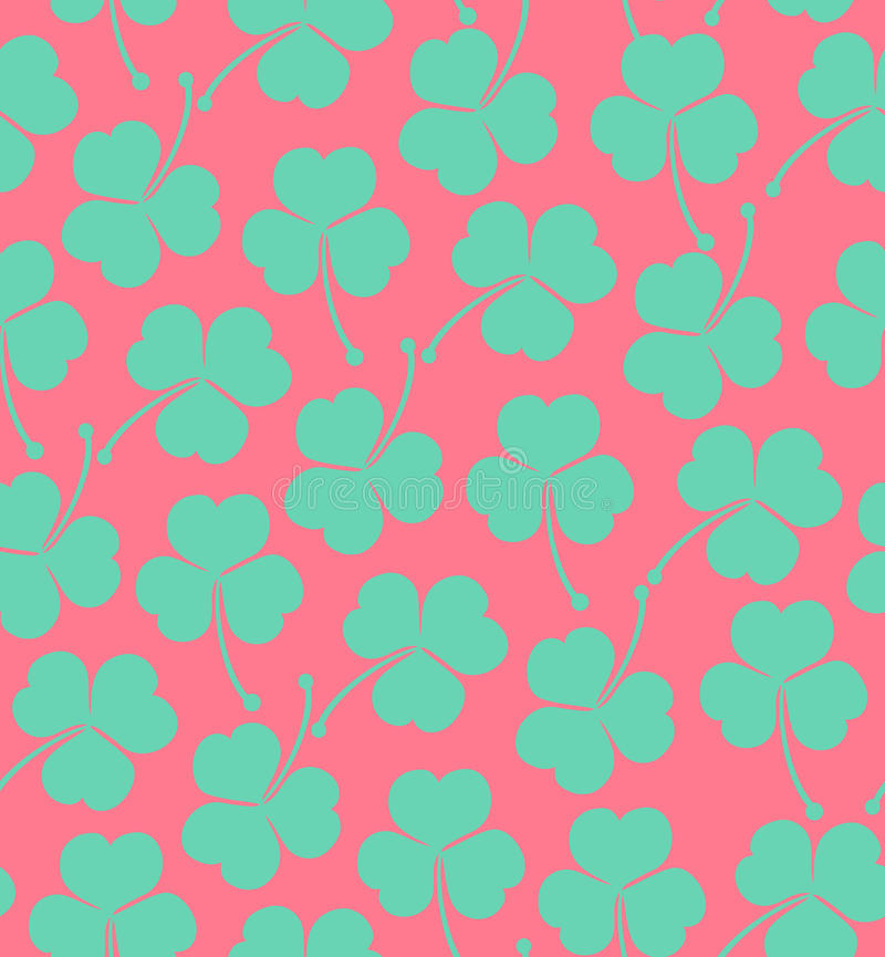 Seamless Cute Pattern With Clover Trefoil Endless Background Texture For Wallpapers Packaging Textile Crafts Stock Illustration Illustration Of Craft Decoration 34876805