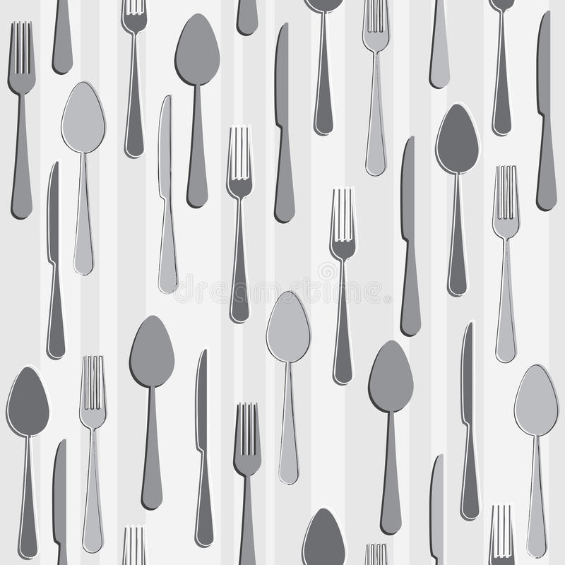 Download Seamless cutlery pattern stock vector. Image of utensil - 20360966