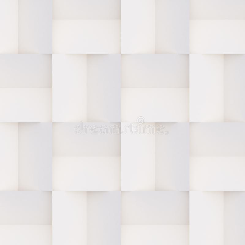 3D pattern made of white and beige geometric shapes. Seamless 3D pattern made of white and beige geometric shapes, creative background or wallpaper surface made royalty free stock images