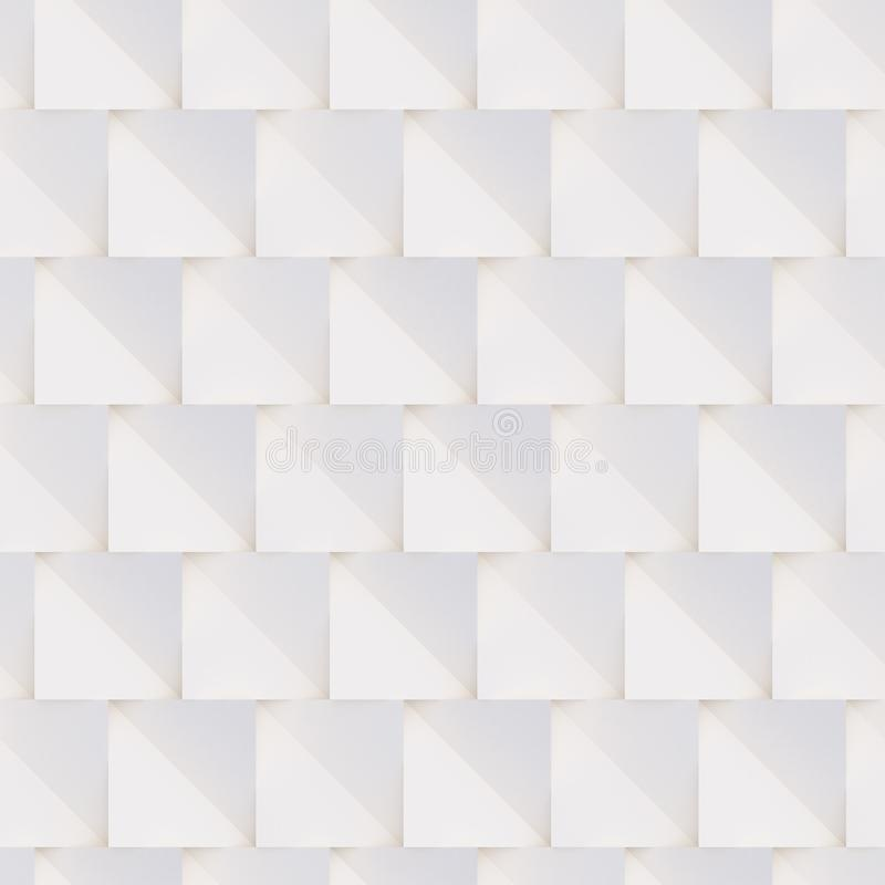3D pattern made of white and beige geometric shapes. Seamless 3D pattern made of white and beige geometric shapes, creative background or wallpaper surface made royalty free stock photos