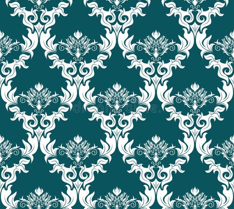 Seamless Damask Pattern Stock Image