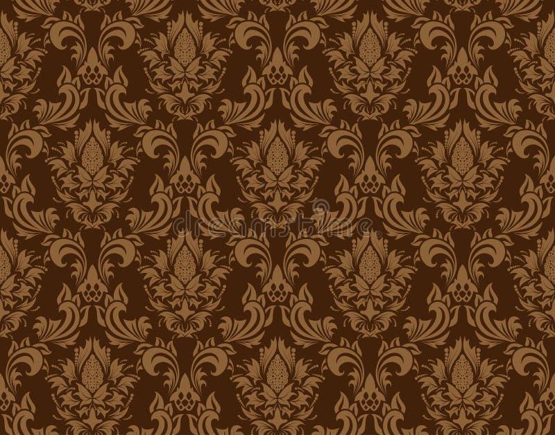 Seamless damask pattern royalty free illustration