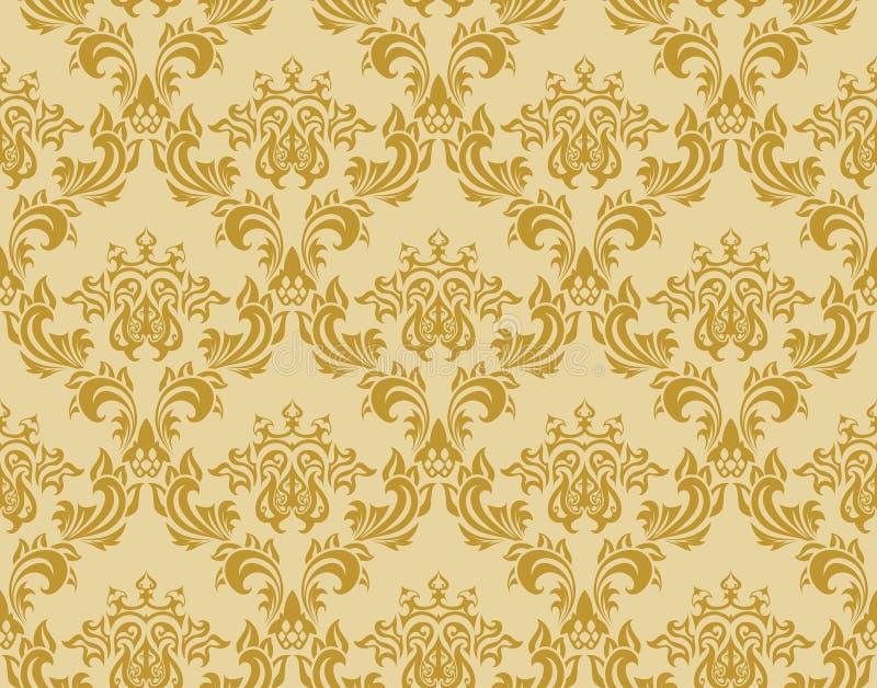Download Seamless damask pattern stock vector. Image of renaissance - 11824012