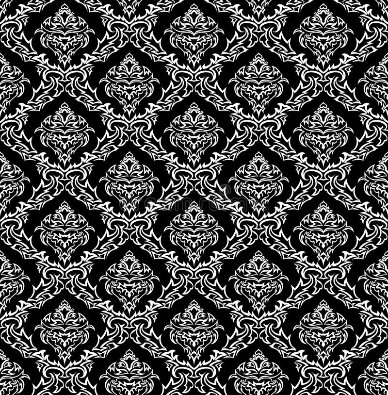 Download Seamless damask pattern stock illustration. Illustration of decors - 12560059