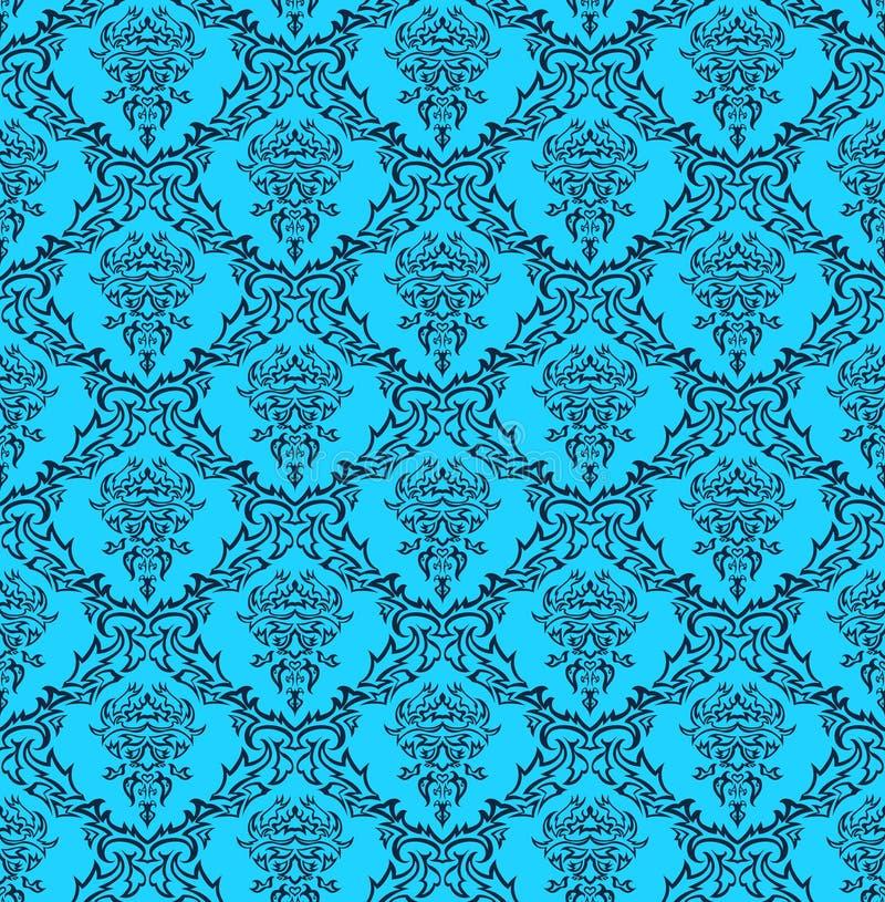 Seamless damask pattern royalty free stock photography