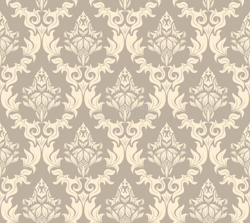 Seamless damask pattern stock photo