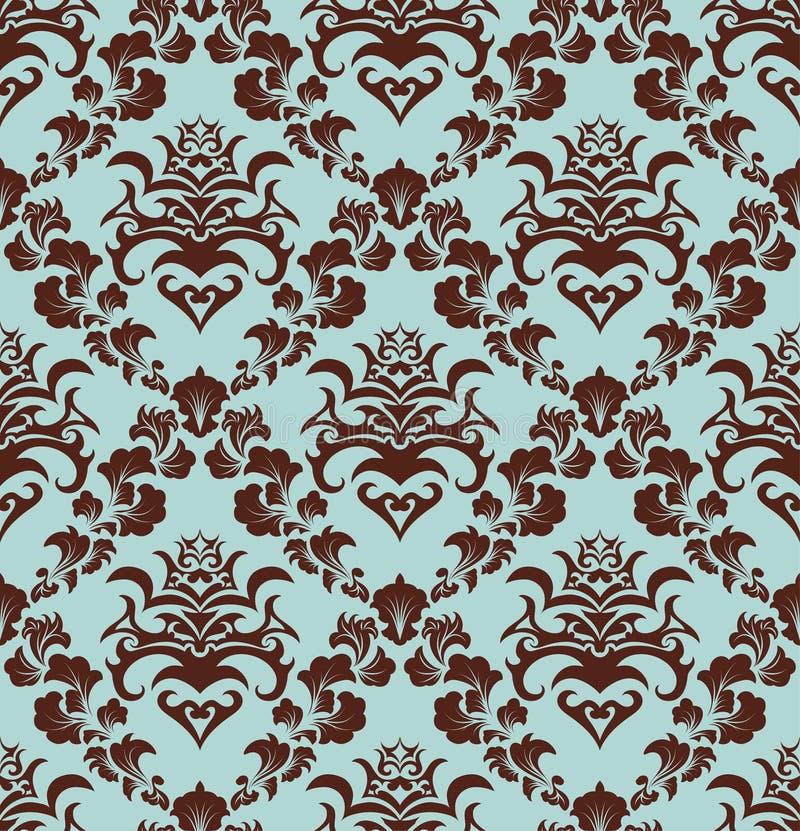 Seamless damask pattern royalty free stock images