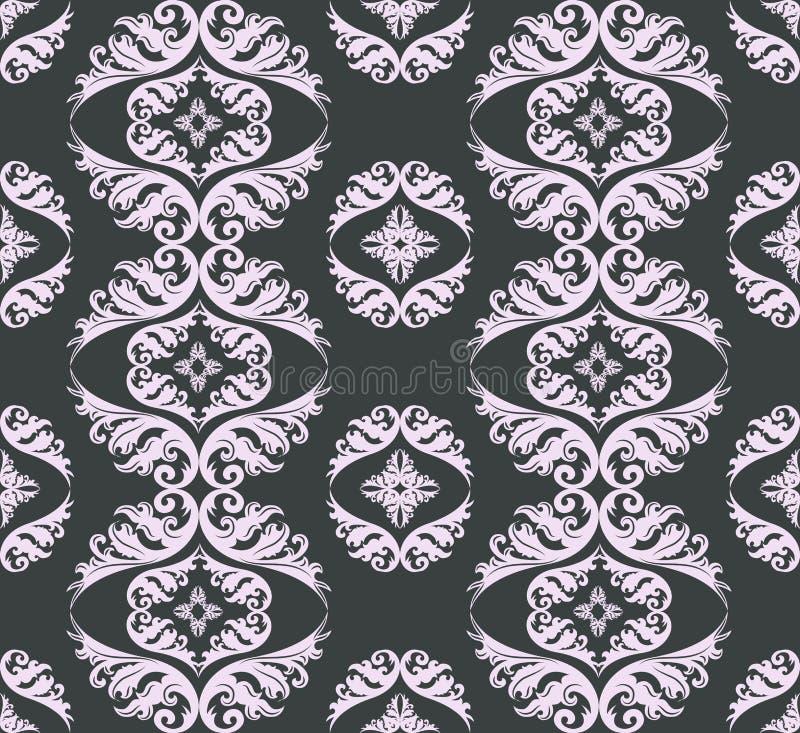 Seamless Damask Pattern Background Stock Images