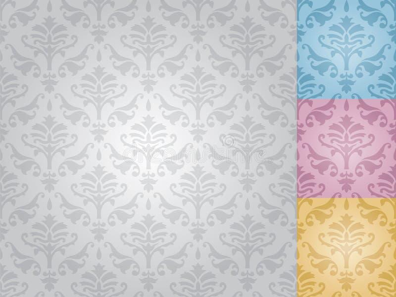 Seamless damask pattern (vector) stock photography