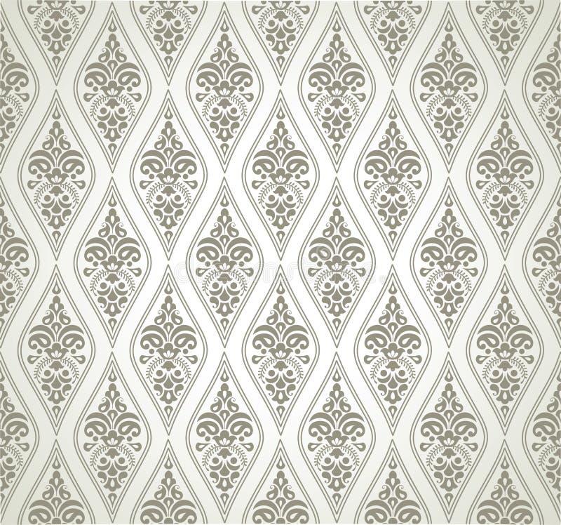 Seamless damask pattern. Seamless vector damask floral pattern stock illustration