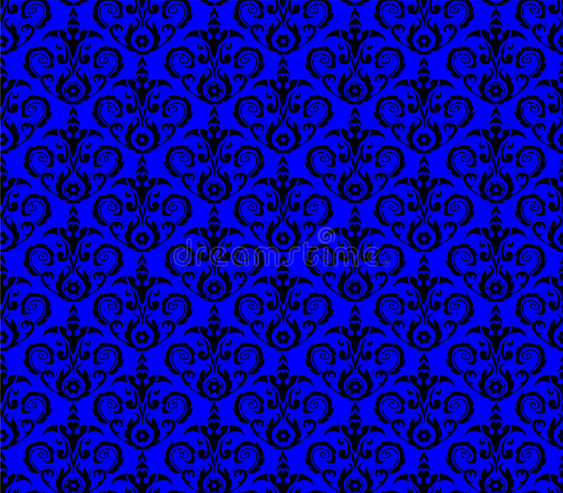 Seamless damask pattern wallpaper royalty free illustration