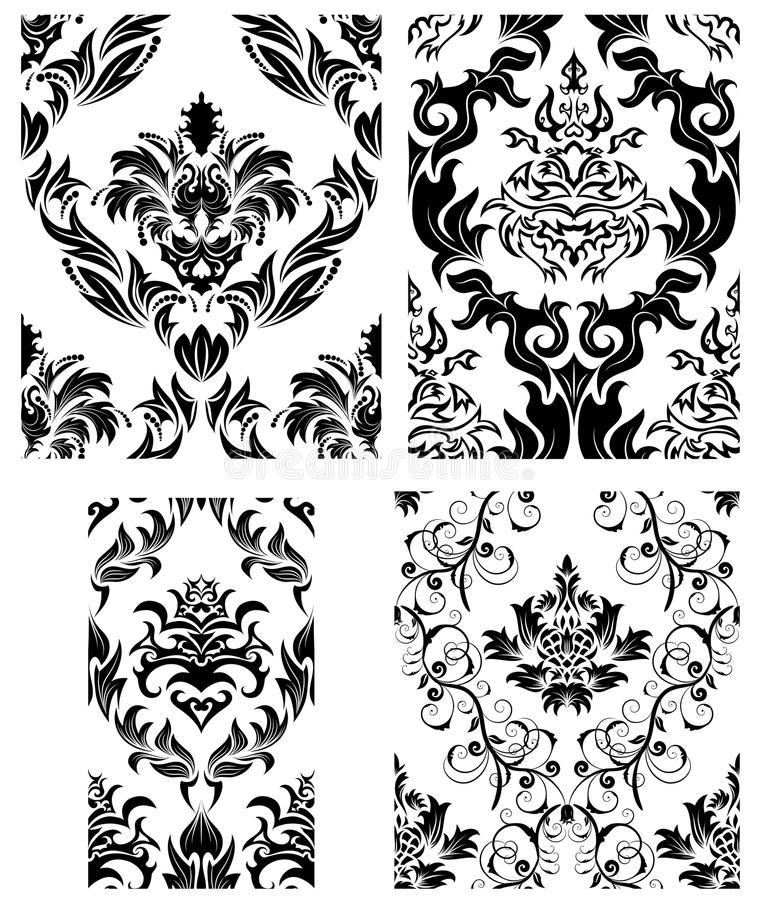 Download Seamless Damask Patterns Set Stock Vector - Image: 12076347