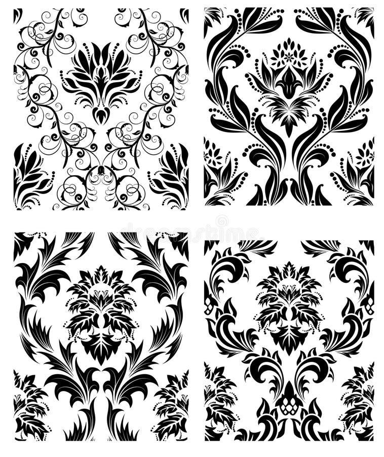 Download Seamless Damask Patterns Set Stock Photography - Image: 12077302